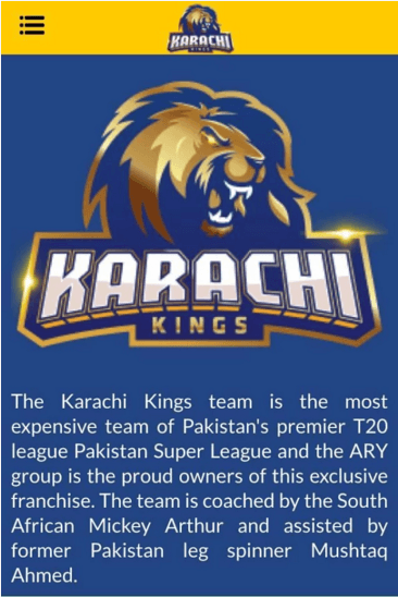 Karachi Kings Apk
