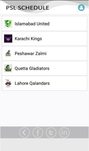 PSL schedule 2016 apk