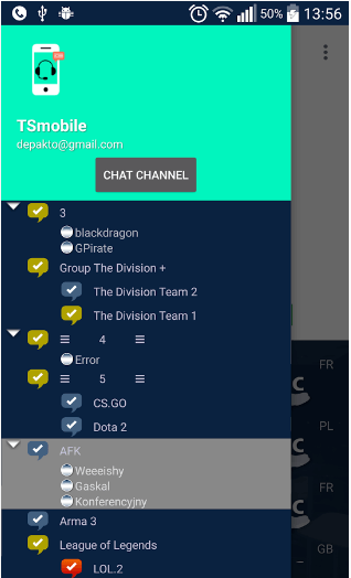 TS3mobile For Teamspeak 3