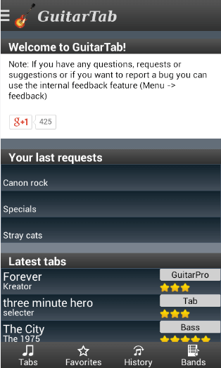 Download Guitar Tab - Tabs And Chords Apk For Free