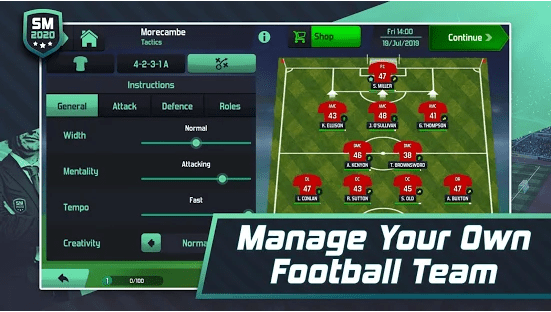Soccer Manager 2020 Android